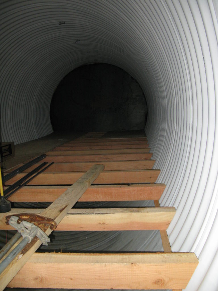 Underground Wood Shelter : Underground culvert shelter northwest systems
